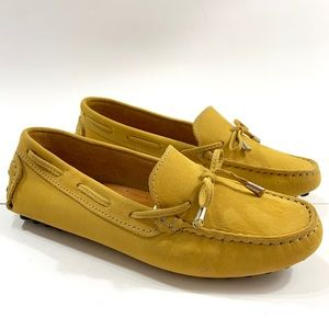 Mercanti Fiorentini Mustard Yellow Suede Loafers